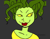 Coloring page Medusa painted byrainbow