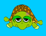 Coloring page Turtle painted byrainbow