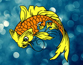Coloring page Koi fish painted bymade12