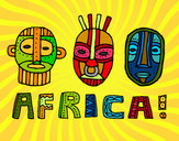 Coloring page African tribes painted byShebear
