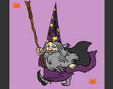 Coloring page Dwarf magician painted byShebear