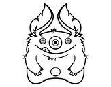 Coloring page Furry Monster painted byLeah