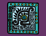 Coloring page Maya symbol painted byShebear