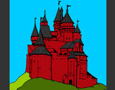 Coloring page Medieval castle painted byShebear