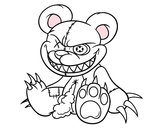 Coloring page Monstrous bear painted byLeah