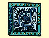 Coloring page Maya symbol painted bymaja5