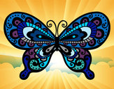 Coloring page Pretty Butterfly painted byGemma