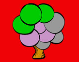 Coloring page Tree with round leaves painted byNate