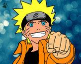 Coloring page Cheerful Naruto painted byaceflame01