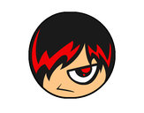Coloring page Emo Emoticons painted byaceflame01