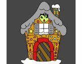 Coloring page Gingerbread house painted byAvaRachel