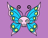 Coloring page Emo butterfly painted byStella