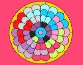 Coloring page Mandala 23 painted byStella