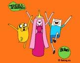 Jake, Princess Bubblegum and Finn