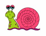 Coloring page Snail 3 painted byJubblyRuss
