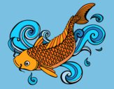Coloring page Koi painted byShelbyGee