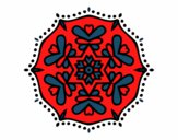 Coloring page Symmetric mandala painted byYazmineW