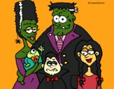 Coloring page Family of monsters painted byShelbyGee