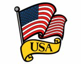 Coloring page U.S. Flag painted byredhairkid