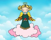 Coloring page Christmas Angel 3 painted bybarbie_kil