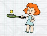 Coloring page Girl with racket painted bybarbie_kil