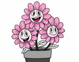 Coloring page Flower pot painted byJubblyRuss