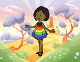 Coloring page Girl with short dress painted byShelbyGee