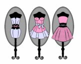 Coloring page Mannequins painted bynessab82