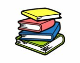Coloring page Stack of books painted bydreammom3