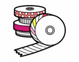Coloring page Washi Tape painted bydreammom3