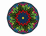 Coloring page Mandala of nature painted byDangle