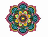 Coloring page Mandala oriental flower painted byDangle