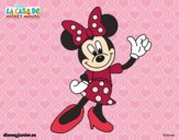 Coloring page Minnie Mouse greeting painted byNatalie