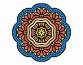 Coloring page modernist mosaic mandala painted byDangle