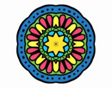 Coloring page Mosaic mandala painted byDangle