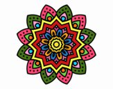 Coloring page Natural flower mandala painted byDangle