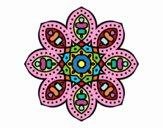 Coloring page Arabian mandala painted byDangle