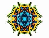 Symmetrical flower mandala