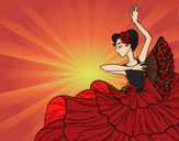 Coloring page Flamenco woman painted bybarbie_kil