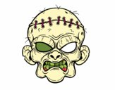 Coloring page Zombie face painted byodddbenavi