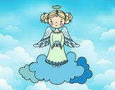 Coloring page Christmas Angel 3 painted byLala B