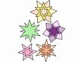 Coloring page Snowflakes painted byLala B