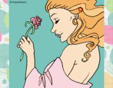 Princess with a rose