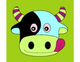 Coloring page Cow 6 painted bycrystif