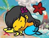 Little mermaid chibi sleeping