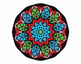 Coloring page Mandala of nature painted byalanstark