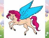 Pegasus flying