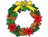 Wreath of Christmas flowers