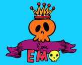 Coloring page Love Emo painted bymindella