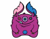 Coloring page Furry Monster painted byLilypop